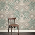 Kilim in Water Green